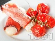 Рецепта Рибни ролца в пуешко филе